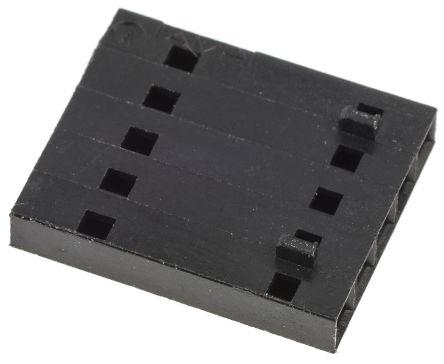 103648-4                                              TE Connectivity AMPMODU MTE Series 2.54mm Pitch Cable Mount IDC Connector, Socket, 5 Way, 1 Row