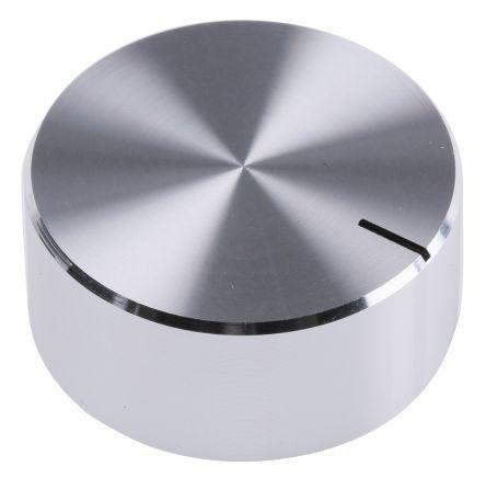 29mm Knob Diameter RS Pro Potentiometer Knob Silver Control Knob Type 6.4mm