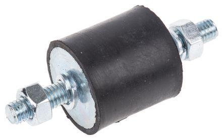 2525VV18-60                                              FIBET 2525VV18-60 Shock Mount M6 55kg Compression Load 5mm, Male to Male Natural Rubber