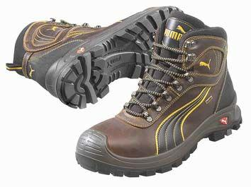 2d19368fb75 Puma Safety Brown Leather Boot UK 9