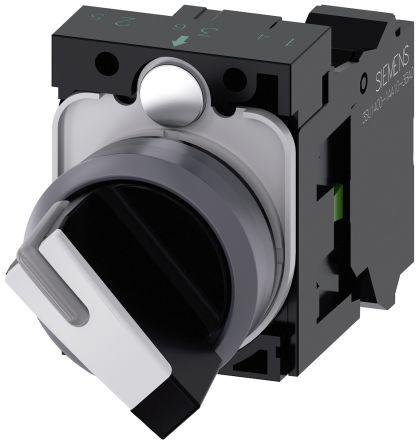 3SU1130-2BF60-3BA0                                              Selector switch, illuminable, 22 mm, rou