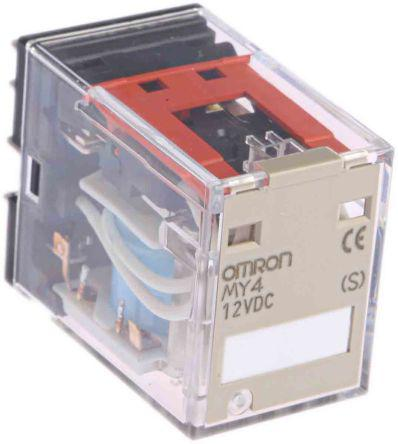 OMRON Relay MY4 12Vdc coil 5A contacts 4PDT