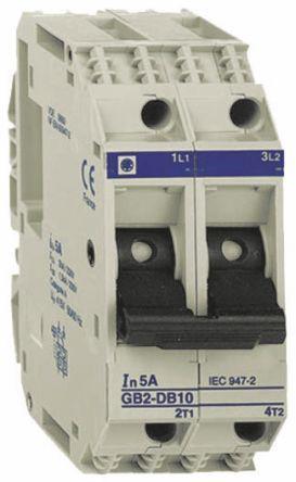 GB2DB21                                              Schneider Electric 16A 2P Pole Thermal Magnetic Circuit Breaker, 277 V ac, 415 V ac GB2