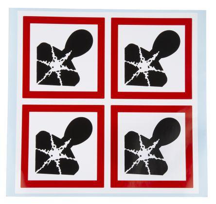 181-2254                                              Sheet of 4 100x100mm Hazardous to Health