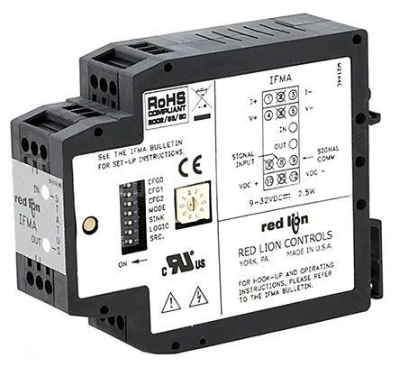 Red Lion Temperature to Analogue Signal Conditioner, 0 → 25 kHz Input, 0 → 10 V, 0 → 20 mA Output