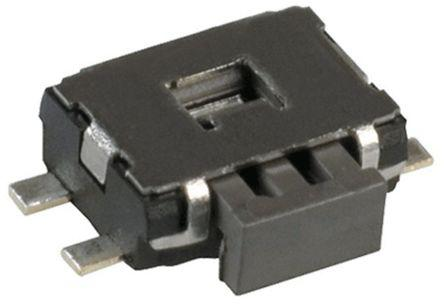 Black Tactile Switch SPST Single Pole Single Throw 50 mA @ 12 V ac 1.8mm