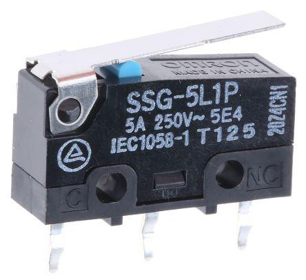 SP Roller Lever Subminiature Micro Switch 2 A @ 250 V ac
