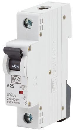 Sentry 5925S MCB Mini Circuit Breaker 1P, 25 A, Curve B