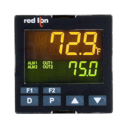 Red Lion PXU PID Temperature Controller, 48 x 48mm RTD, Thermocouple Input, 1 Output SSR