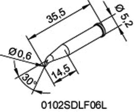 0032bd sb ersa ersa 1 1 mm straight conical soldering iron tip 40W Soldering Diagram ersa 1 1 mm straight conical soldering iron tip for use with multitip 25 soldering iron