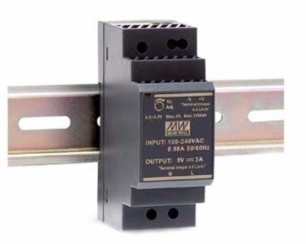 DRB DIN Rail Power Supply, 30W, 5V dc/ 6A