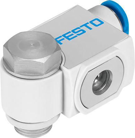 VFOF-LE-H-G14-Q8                                              Festo Flow Controller, 1/4 in G 1/4 x8mm
