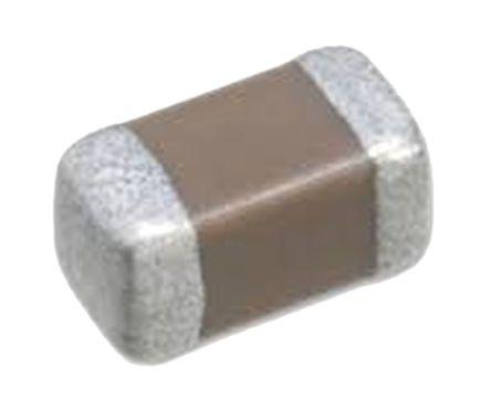 TDK 100nF Multilayer Ceramic Capacitor MLCC 50 V dc ±20% X7R Dielectric 0402 SMT Max. Op. Temp. +125°C