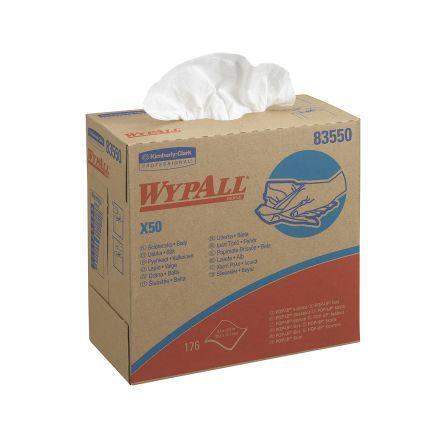 8355                                              WYPALL* X50 Cloths - POP-UP Box / White