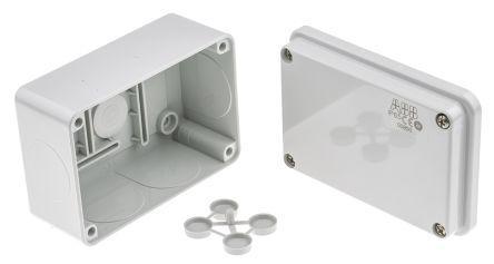 Thermoplastic IP55 Junction Box, 105 x 70 x 50mm, Grey