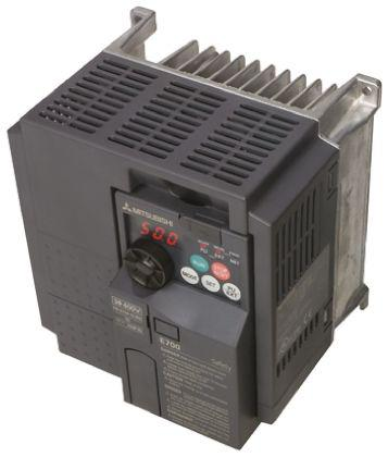 FR-E740-016SC-EC                                              Mitsubishi FR-E740 Inverter Drive 0.4 kW, 3-Phase In, 400 V ac, 1.6 A, 0.2 → 400Hz Out