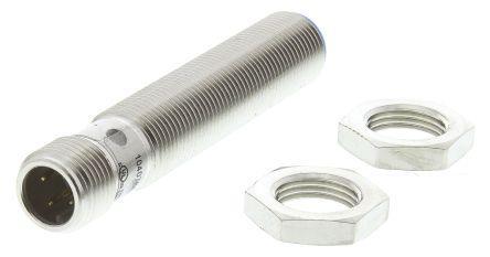 Sick PNP Inductive Sensor 4 mm Detection Range, Barrel 65mm length, 10 → 30 V dc, IP67