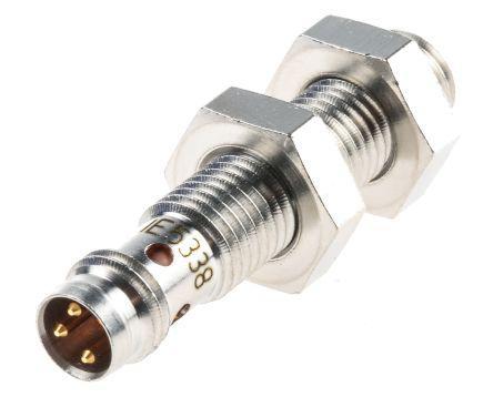 ifm electronic NPN, PNP Inductive Sensor 0 → 3 mm Detection Range, Barrel 40mm length, 10 → 30 V dc