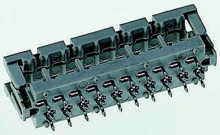 Amphenol TMM Series 1.27 mm, 2.54 mm Pitch Right Angle Cable Mount IDC Connector, Male, 8 Way, 2 Row