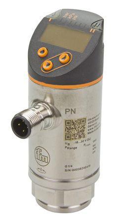 PN7596                                              ifm electronic Relative Pressure Sensor, IO-Link, 2.5bar Max Pressure Reading , 18 → 30 V dc, G1/4, IP65, IP67