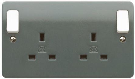 K2746 GRA                                              MK Electric Electrical Socket, Type G - British