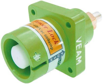 NPS-E-GN-T4                                              ITT Cannon Veam Powerlock Series, Panel Mount Industrial Power Plug, Rated At 400A, 1 kV ac