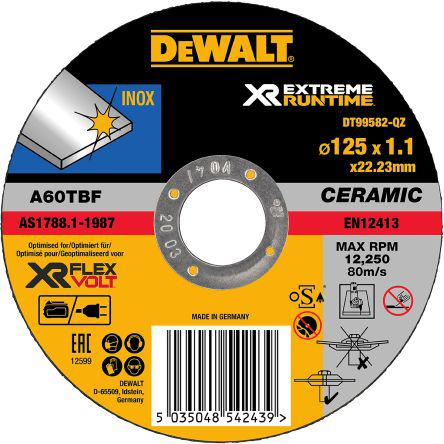 DT99582-QZ                                              Dewalt Extreme Runtime Grinding Disc Ceramic, 12250rpm, 125mm