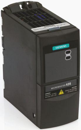 6SE6440-2UD22-2BA1                                              Siemens Inverter Drive, 3-Phase In, 0 → 550Hz Out 2.2 kW, 400 V ac, 7.5 A MICROMASTER 440, IP20