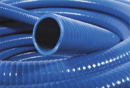 917-5103                                              RS Pro PVC 5m Long Blue Flexible Ducting Reinforced, 171mm Bend Radius , Applications Fuel
