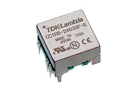 CC-1R5-4805SR-E                                              TDK-Lambda CC-E 1.5W Isolated DC-DC Converter, Voltage in 4.5, 9.0 V dc, Voltage out 5V dc