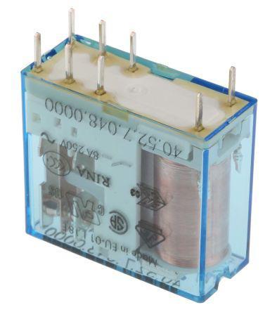 Finder 36.11.9.048.4011 PCB Mount Relay 10A 48VDC SPDT-CO