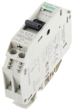 250V ac GB2 1A 1P SCHNEIDER GB2CD06 Thermal Magnetic Circuit Breaker N Pole