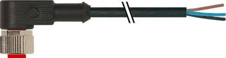 174-7854                                              RS Pro Industrial Automation Cable Assembly with a 3 Pole Angled Female M12 Female, 4 A, 250 V ac/dc, 5m Cable