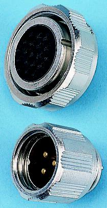 Binder 712 Series, 7 Pole Cable Mount Subminiature Connector Plug, with Female Contacts, IP67
