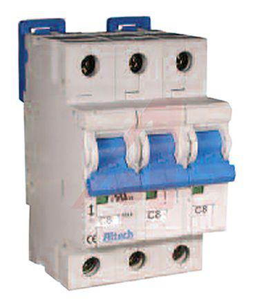 3CU1R                                              Altech 1A 3 Pole Thermal Magnetic Circuit Breaker, 480Y/277V R