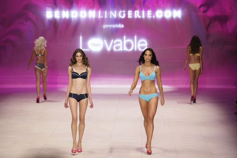 Models on the catwalk for Bendon lingerie