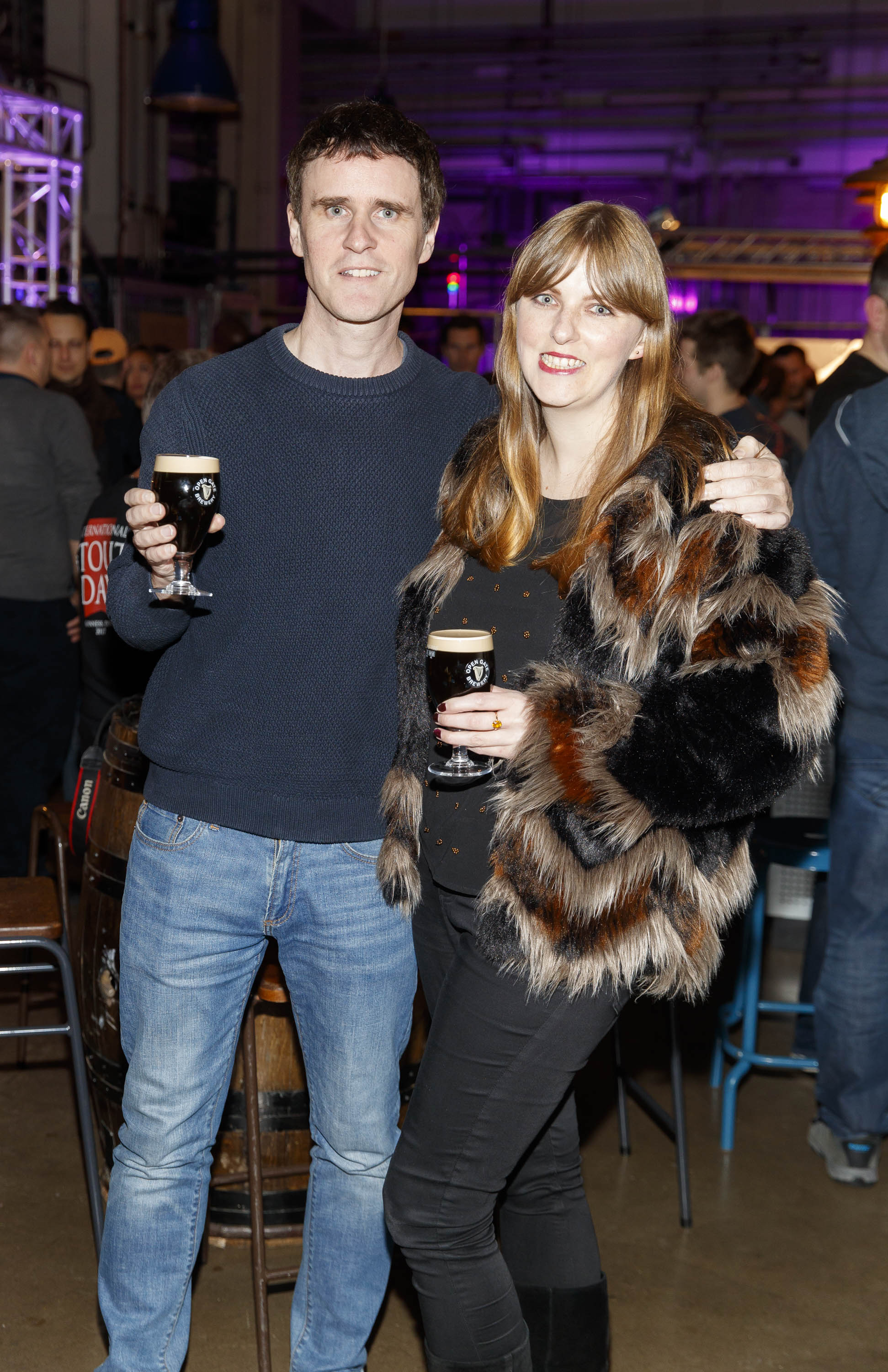 STOUT OF THIS WORLD Kevin Burke and Leslie Ann Horgan pictured on International Stout Day as Guinness celebrated innovation in brewing with a future of stout summit.    Guinness together with guest brewers and a host of experts from around the world, celebrated bravery in brewing by hosting a Future of Stout Summit, focused on stout innovation and the opportunities in brewing this unique style of beer.   At the summit, Guinness announced that its brewers are set to work on a feasibility study, which will investigate the viability of brewing a Guinness fit to be enjoyed in space. Through further research, innovation and experimentation, Guinness will draw on over 259 years of experience in the hope of making a breakthrough.     Hosted in the Open Gate Brewery, the home of beer innovation and experimentation at Guinness, the stout summit was attended by a team of brewers from the St. James's Gate Brewery in Dublin and other brewers from around the world including the UK, the Netherlands, Korea as well as brewers from all over Ireland. Inspiration at the summit was also delivered by Dr. Norah Patten, who is set to be the first Irish person to travel into space, Kitchen's Theory's Chef, Jozef Youssef and Oxford University Gastrophysics Professor, Charles Spence, who together are on a continuous odyssey to research and demystify the field of gastronomy, and Erin Peters, the beer writer behind International Stout Day. Picture Andres Poveda More information can be found at www.guinness.com   Enjoy Guinness Sensibly. Visit www.drinkaware.ie.