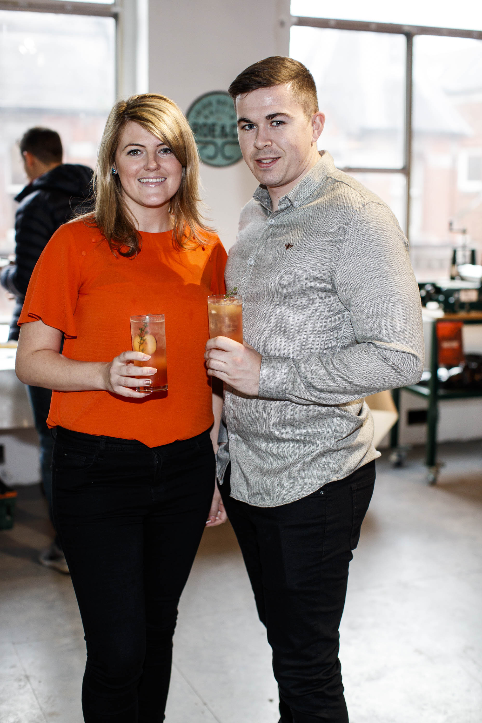 Niamh Baker and Diarmuid Tobin pictured at The Roe and Collective launch, Dollard Printing House.   Roe & Co, a brand that lives and breathes creative reinvention, will bring some of Ireland's most impressive artists and creatives together to celebrate craft in the heart of Dublin city. A yet unused space within the newly revived Dollard Printing House on Dublin's Quays has been transformed into a Roe & Co venue, where the premium Irish whiskey will host workshop sessions, The Roe & Collective. The workshops will take place just a stone's throw from the new Roe & Co distillery on James's Street which is due to open its doors in Spring 2019.  Guests enjoyed a cocktail masterclass with Roe & Co ambassador, Alan Mulvihill, the art of the portrait with wet plate photographer, Alex Sapienza and a copper etching live demo with artist, Helen O'Higgins. Check out Eventbrite.ie for details of the next Roe & Collective event on Saturday, 8th December 2018. Picture Andres Poveda