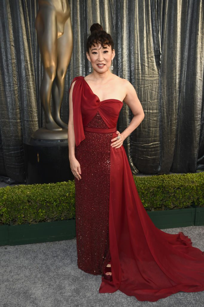 LOS ANGELES, CA - JANUARY 27:  Sandra Oh attends the 25th Annual Screen ActorsGuild Awards at The Shrine Auditorium on January 27, 2019 in Los Angeles, California. 480595  (Photo by Dimitrios Kambouris/Getty Images for Turner)