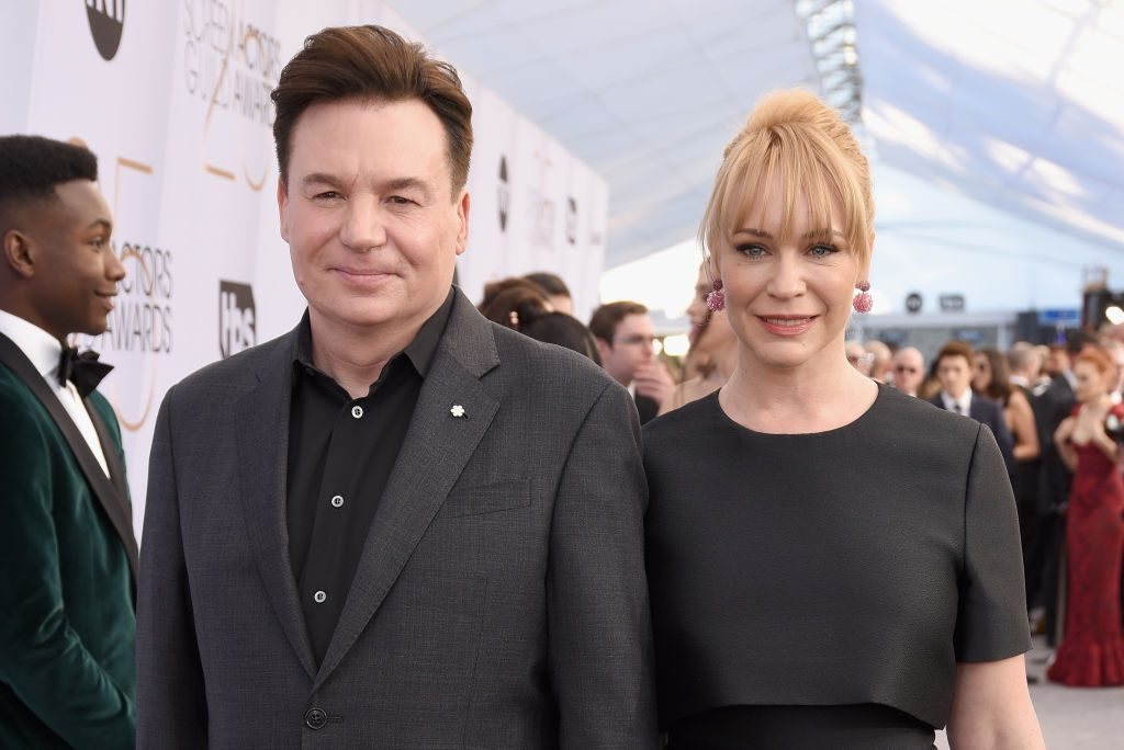 LOS ANGELES, CA - JANUARY 27:  Mike Myers and Kelly Tisdale attends the 25th Annual Screen ActorsGuild Awards at The Shrine Auditorium on January 27, 2019 in Los Angeles, California.  (Photo by Presley Ann/Getty Images)