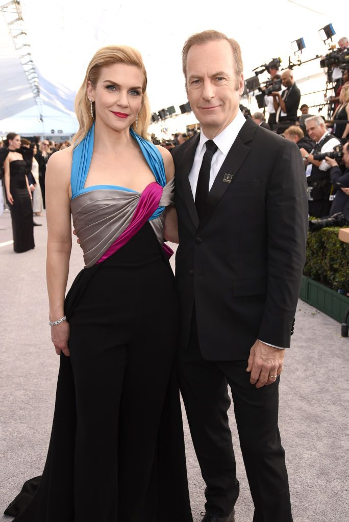 LOS ANGELES, CA - JANUARY 27:  Rhea Seehorn and Bob Odenkirk attend the 25th Annual Screen ActorsGuild Awards at The Shrine Auditorium on January 27, 2019 in Los Angeles, California.  (Photo by Presley Ann/Getty Images)