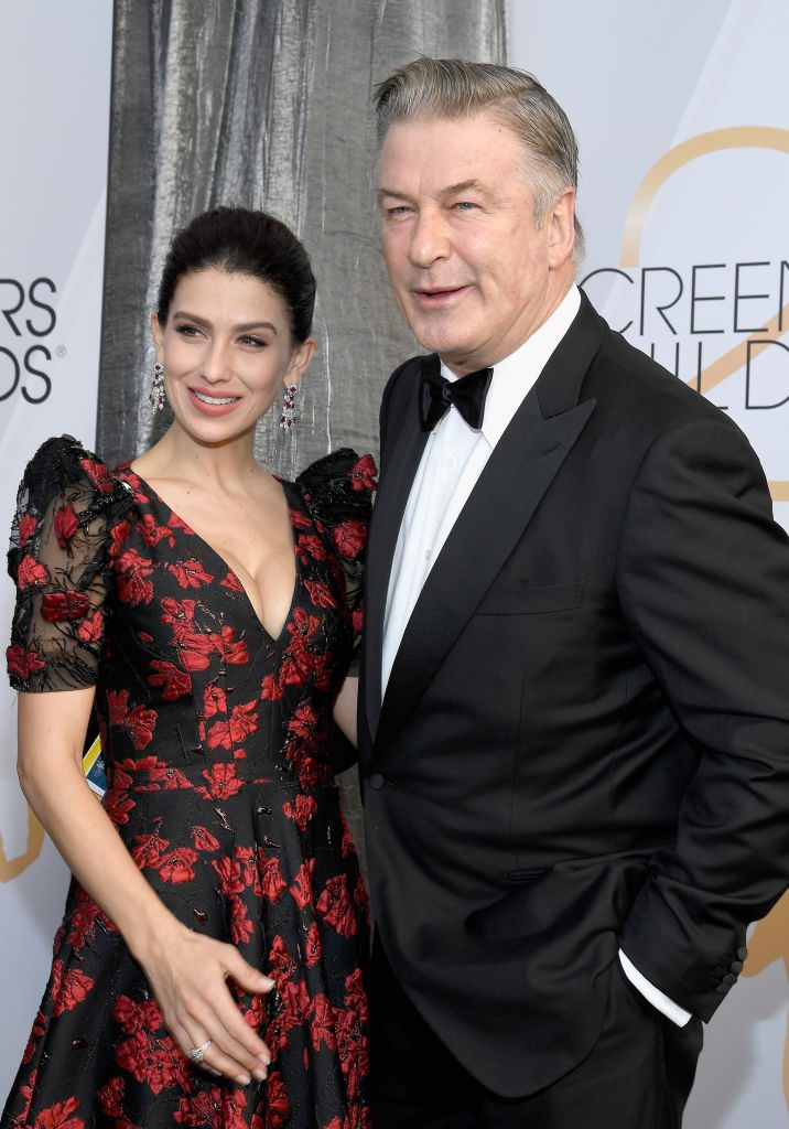 LOS ANGELES, CA - JANUARY 27:   (L-R) Hilaria Baldwin and Alec Baldwin the 25th Annual Screen ActorsGuild Awards at The Shrine Auditorium on January 27, 2019 in Los Angeles, California.  (Photo by Kevork Djansezian/Getty Images)