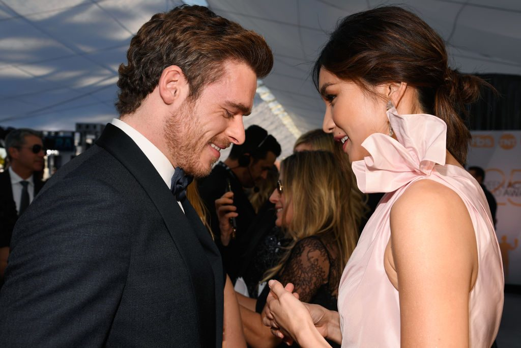 LOS ANGELES, CA - JANUARY 27:  Richard Madden (L) and Gemma Chan attend the 25th Annual Screen ActorsGuild Awards at The Shrine Auditorium on January 27, 2019 in Los Angeles, California.  (Photo by Kevork Djansezian/Getty Images)