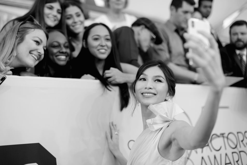 LOS ANGELES, CA - JANUARY 27:  (EDITORS NOTE: Image has been shot in black and white. Color version not available.) Gemma Chan attends the 25th Annual Screen ActorsGuild Awards at The Shrine Auditorium on January 27, 2019 in Los Angeles, California. 480620  (Photo by Charley Gallay/Getty Images for Turner)