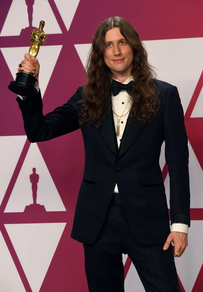 "HOLLYWOOD, CALIFORNIA - FEBRUARY 24: Composer Ludwig Goransson, winner Best Original Score for ""Black Panther,"" poses in the press room during the 91st Annual Academy Awards at Hollywood and Highland on February 24, 2019 in Hollywood, California. (Photo by Frazer Harrison/Getty Images)"