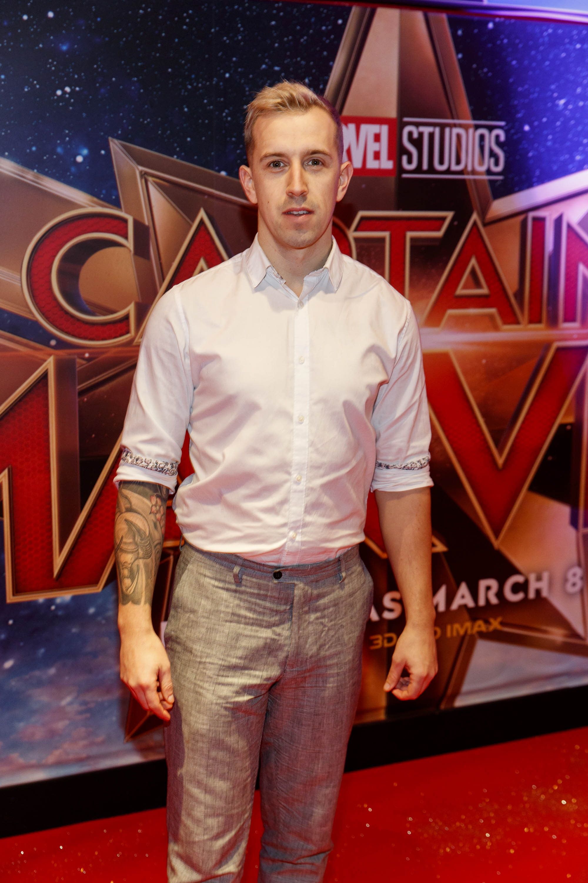 Luke O'Faolain pictured at a special preview screening of CAPTAIN MARVEL in Cineworld Dublin. Picture by: Andres Poveda