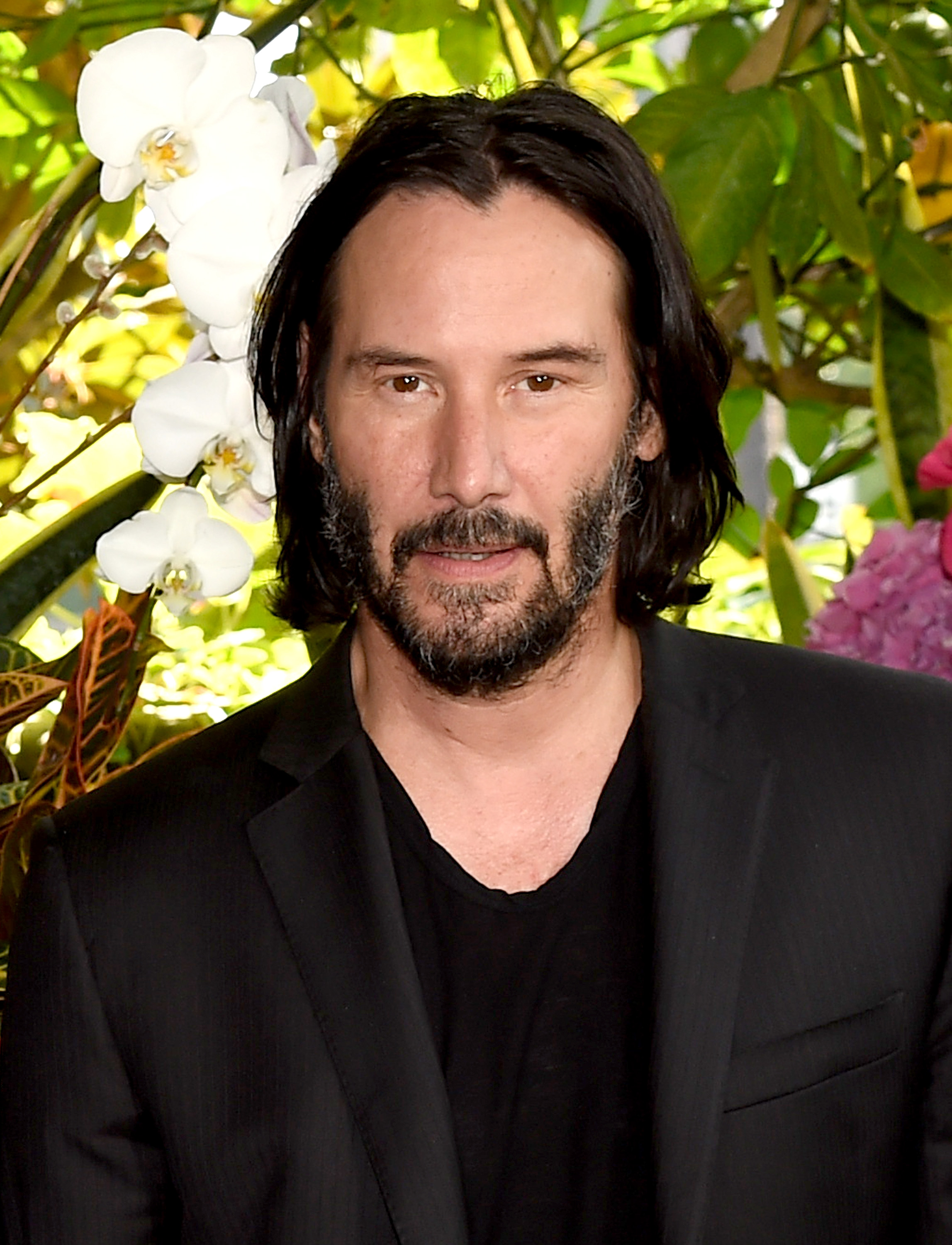 """Keanu Reeves attends a photo call for Regatta's """"Destination Wedding"""" at the Four Seasons Hotel Los Angeles at Beverly Hills on August 18, 2018 in Los Angeles, California.  (Photo by Kevin Winter/Getty Images)"""