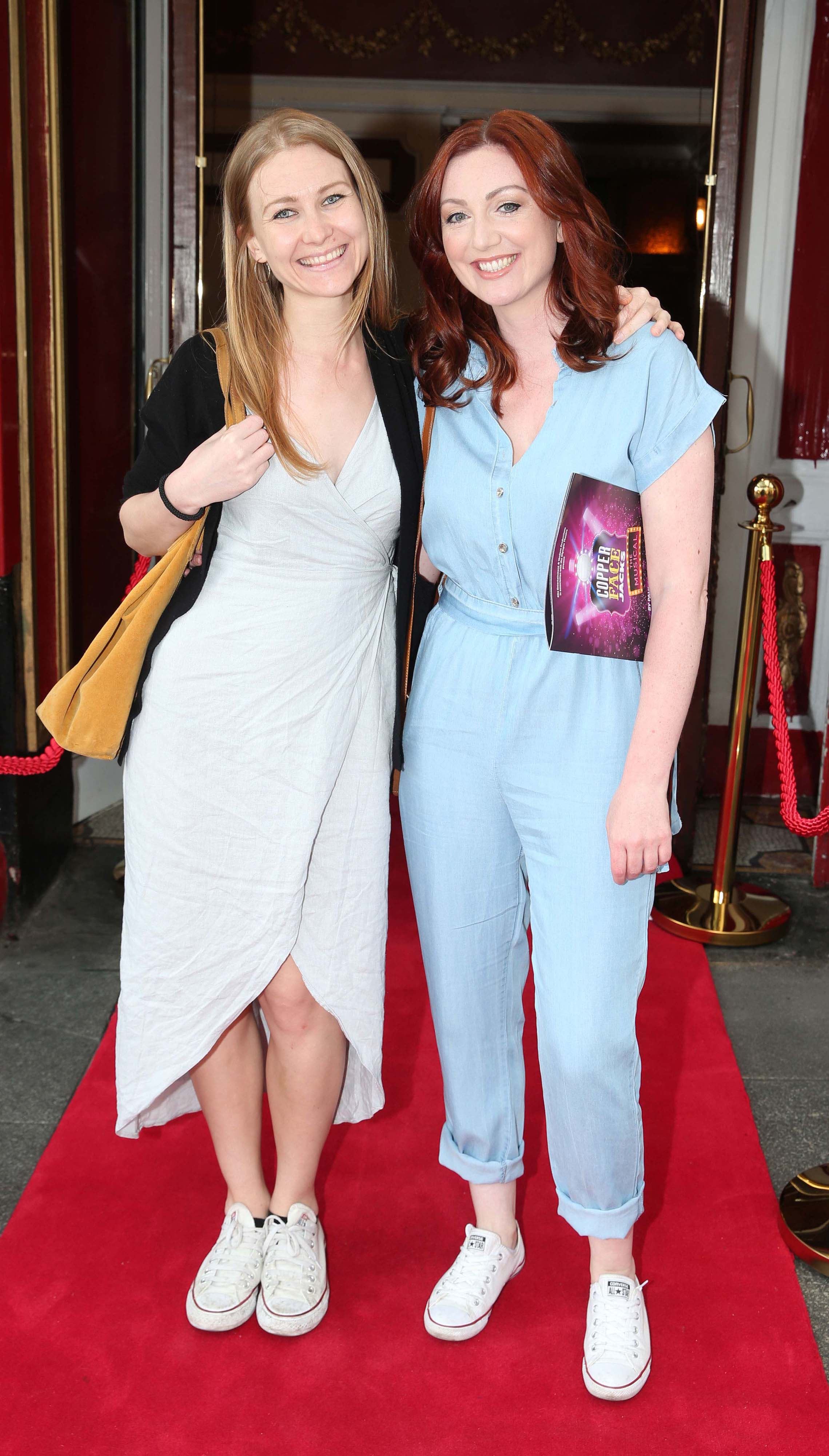urses Gill Carty and Cara Carton at the opening night of  Copper Face Jacks The Musical at  the Olympia Theatre which  runs until the 10th August.Photo: Leon Farrell/Photocall Ireland.