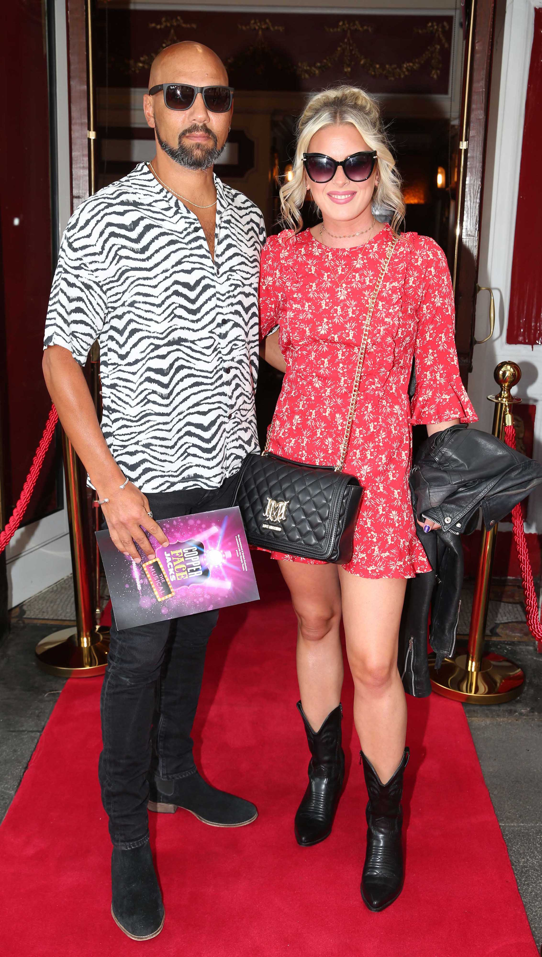 Daryn Crosbie and Linda Cowan at the opening night of  Copper Face Jacks The Musical at  the Olympia Theatre which  runs until the 10th August.Photo: Leon Farrell/Photocall Ireland.