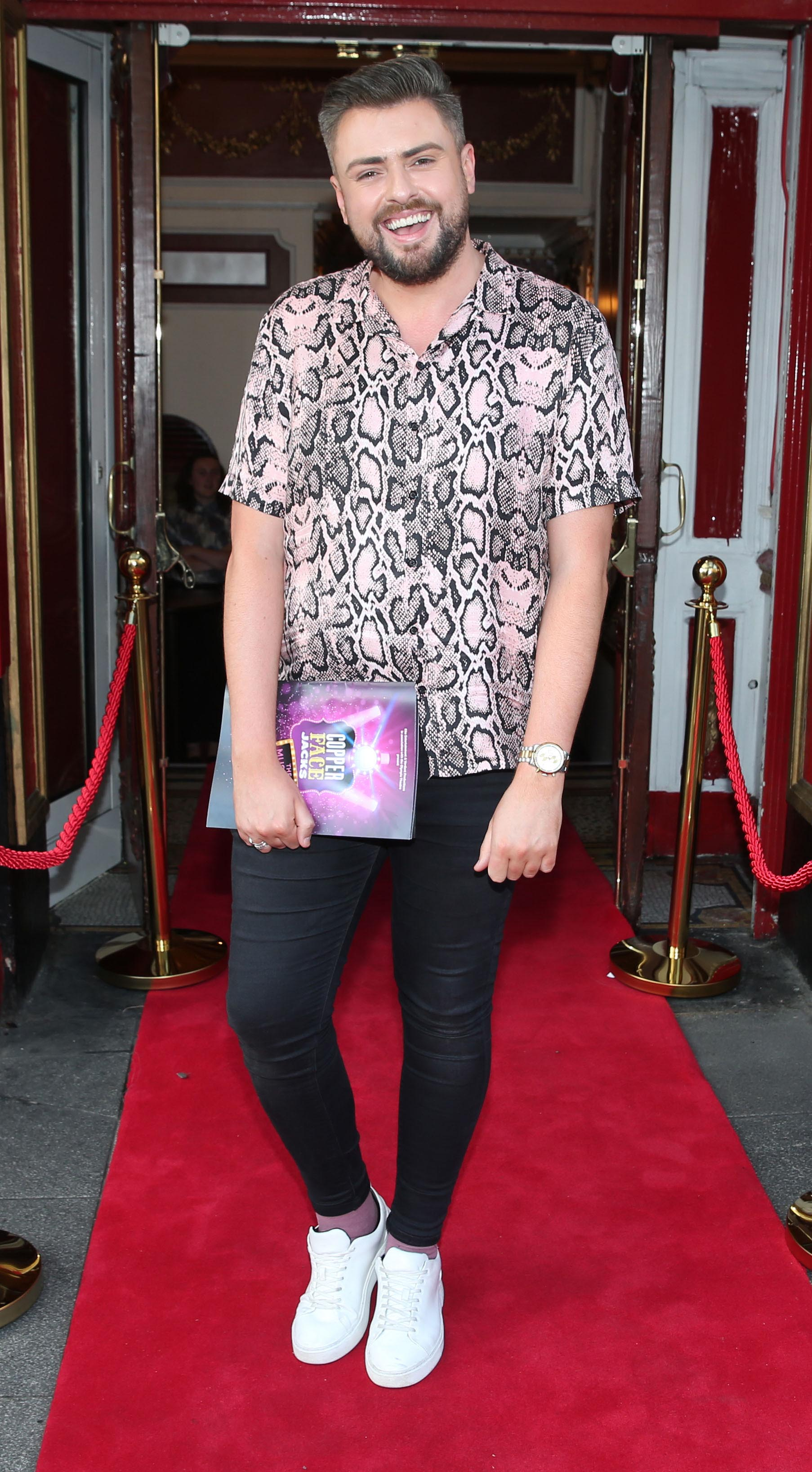 James Patrice at the opening night of  Copper Face Jacks The Musical at  the Olympia Theatre which  runs until the 10th August.Photo: Leon Farrell/Photocall Ireland.